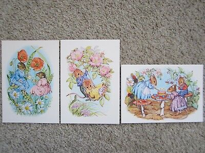 3 CHILDREN'S POSTCARDS by AUDREY TARRANT in unposted new condition