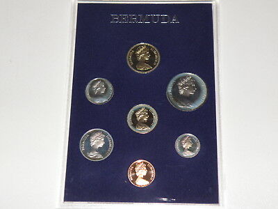 BERMUDA - 1983 PROOF COIN SET - 7 Coins - FIVE DOLLARS to ONE CENT COINS