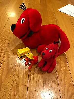 CLIFFORD figures and stuffed plush