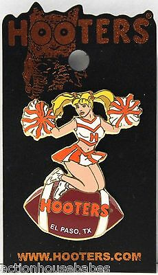 Sexy HOOTERS  Girl Cheerleader Football EL PASO, TX TEXAS Lapel Pin - NEW