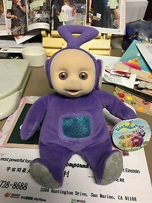 """TELETUBBIES PLUSH SOFT PURPLE BACKPACK  """"TINKY WINKY""""  VINTAGE 90's  14"""""""