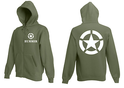 US Army Hooded Jacket Hummer Allied Star Gr S-XXL H1 TOP 4x4 Off-Road Oldtimer