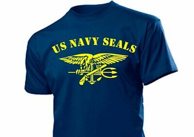 T-Shirt US Army Navy Seals with Anchor & Eagle USMC Marines Gr 3-5XL WK2 WWII