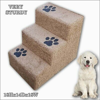 """Pet Steps for Dogs or Cats w. paw prints,18"""" Tall x 14"""" Wide x 18""""Deep."""