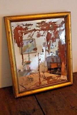 A Vintage Antique  Foxed Distressed Mirror