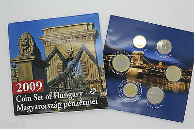 2009 Coin Set (6) Of Hungary 5/10/20/50/100/200 Forint Brilliant Uncirculated BU