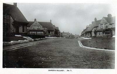 Garden Village Unidentified sepia RP old postcard used