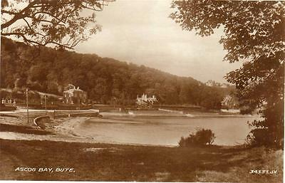 Ascog Bay Bute unused RP old pc 1935 Valentines