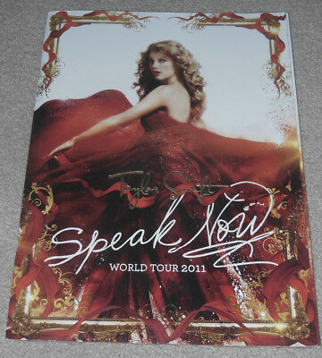 Taylor Swift Speak Now Tour Book Program - NEW!! with Posters, Not Reputation CD