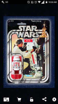 Star Wars Card Trader Hasbro Kenner Action Figure R5-D4 w/ Luke
