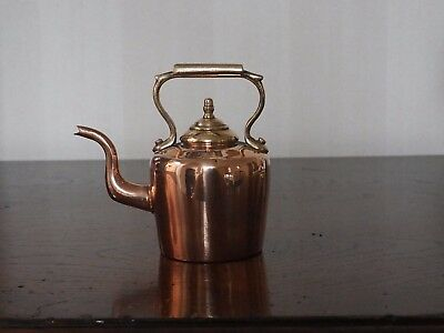Superb Antique miniature copper kettle