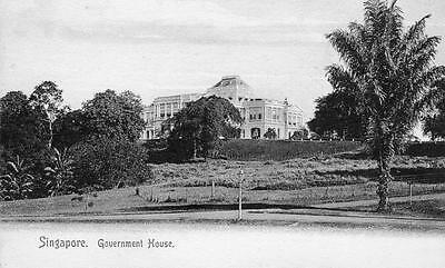 Government House Singapore Malaya unused old pc Wilson & Co