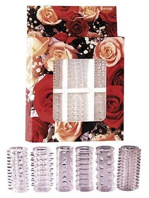 05200550000 You2Toys Set Guaine Falliche Red Roses Penis Sleeves - 1 Prodotto
