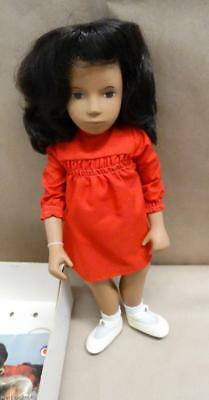 Sasha Brunette Red Dress #104 In Box  Silver Wrist Tag Serie Made In England