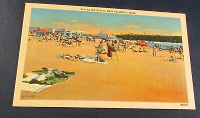 Old Postcard<WEST FALMOUTH, MASSACHUSETTS>{ OLD SILVER BEACH}