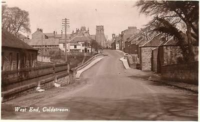 West End Coldstream Nr Kelso unused RP old pc 1936