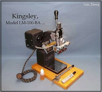 Kingsley Machine ( Model LM-100-BA & Accessories ) Hot Foil Stamping Machine