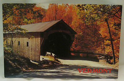 Downers Bridge Perkinsville Vermont Postcard