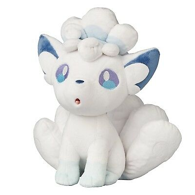 "New 2017 Pokemon Sun and Moon Alola Vulpix Plush doll 8"" Free 1st Class Postage"