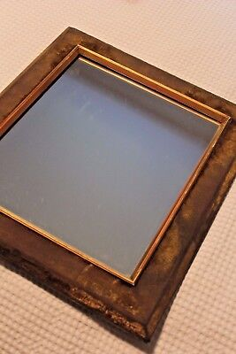A Vintage Antique Distressed Velvet Easel Mirror