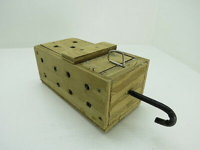 (#2626)  Old Wood Dungeness Crab  Lobster Shrimp Bait Trap Jar Box Crawfish