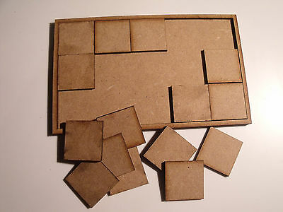 Wood Movement Trays 25mm bases for Warhammer, Wargames, and other tabletop games