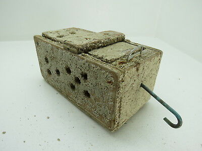 (#2639)  Old Wood Dungeness Crab  Lobster Shrimp Bait Trap Jar Box Crawfish