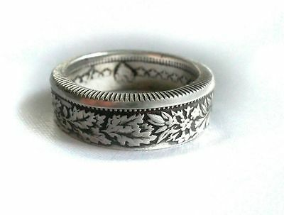 Silver Swiss Coin Ring - Switzerland 2 Franc Coin