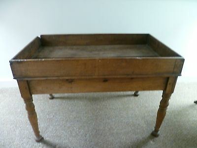 Antique Oak Nappy Changer