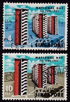 Singapore #70-71 Used National Day (Government Housing Project)