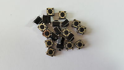 MICRO SWITCH,TACTILE TACT SWITCH 4pin 12V PACK OF 20 SIZE 6X6X4.3 MM