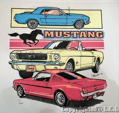Vintage Classic FORD Mustang Car Iron on Display Sign Poster Picture