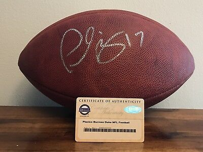 Plaxico Burress Autographed Football