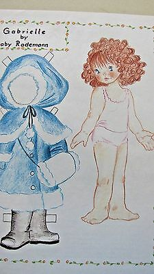 Vintage Gabrielle Paper Doll & Clothes By Gaby Rademann + Article - Uncut - 1993