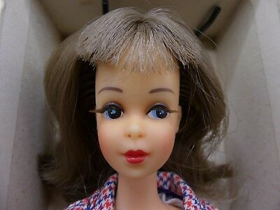Vintage Japanese Exclusive JE Dressed Box Francie Barbie in Check Mates
