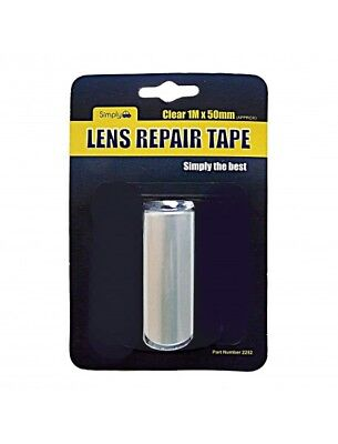 CLEAR CAR AUTO LENS REPAIR TAPE Broken Cracked Rear Front Lights - 1M x 50mm