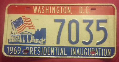 1969 District Of Columbia 7035 Inaugural Inauguration License Plate