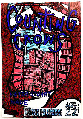 Counting Crows  Concert Poster  1994    The Fillmore  SF