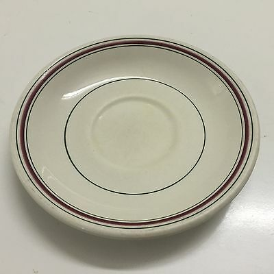 Grindley England Hercules Vitrified Vintage Red and Green Ring Saucer