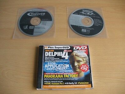 3 x Cover Disks containing Full Versions of Borland Delphi - Versions 1 to 4
