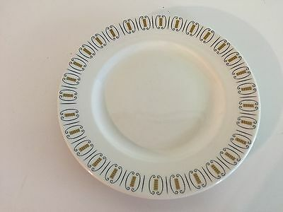 "Brand New Grindley ""Lattice"" Vintage Dinner Plate with Black and Gold Design"