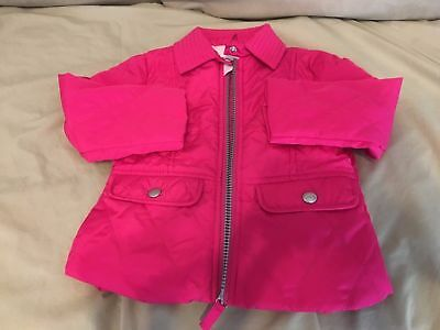 NEW Cat & Jack Girl's Pink Lined Quilted Pattern Jacket/Coat - Size 18M
