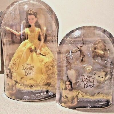 2017 Disney Beauty& the Beast Belle Doll & Castle Friends Lot Live Action- NIB