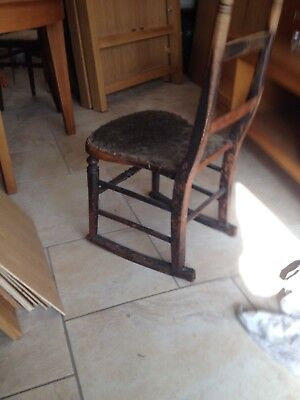 Victorian Rocking chair; sometimes described as Cottage 'nursing' rocker