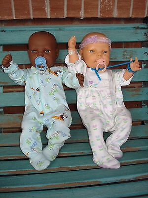 RARE Berjusa Real-life Newborn Dolls + PACI's Anatomically Correct Boy AND Girl!