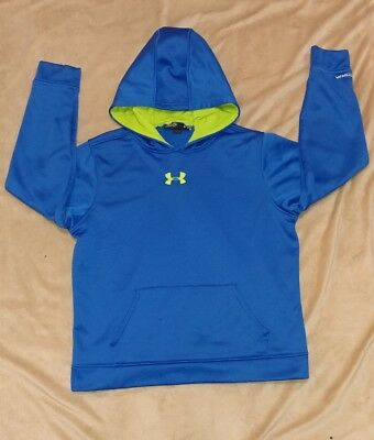 (A) Under Armour Youth Xl Blue Storm Loose Fit Pullover Hoodie