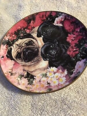 Flowery Friends by Danbury Mint-8 1/4in Limited Edition Plate by Mandie Haywood