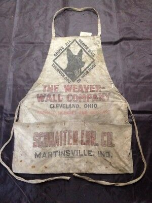 Vintage Schnaiter Lumber Co. Apron, Carpenter, Advertising