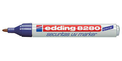 Edding 8280 Permanent Uv Marker Security Professional Quality Glow In Dark Uv