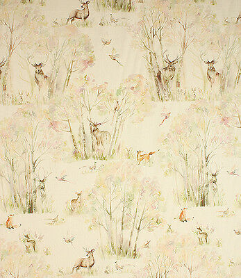 Voyage Decoration Enchanted Forest Linen Fabric! 100% Linen IN STOCK NOW